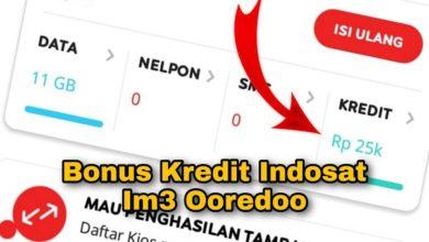 Cara Menggunakan Bonus Kredit Indosat Im3 Ooredoo