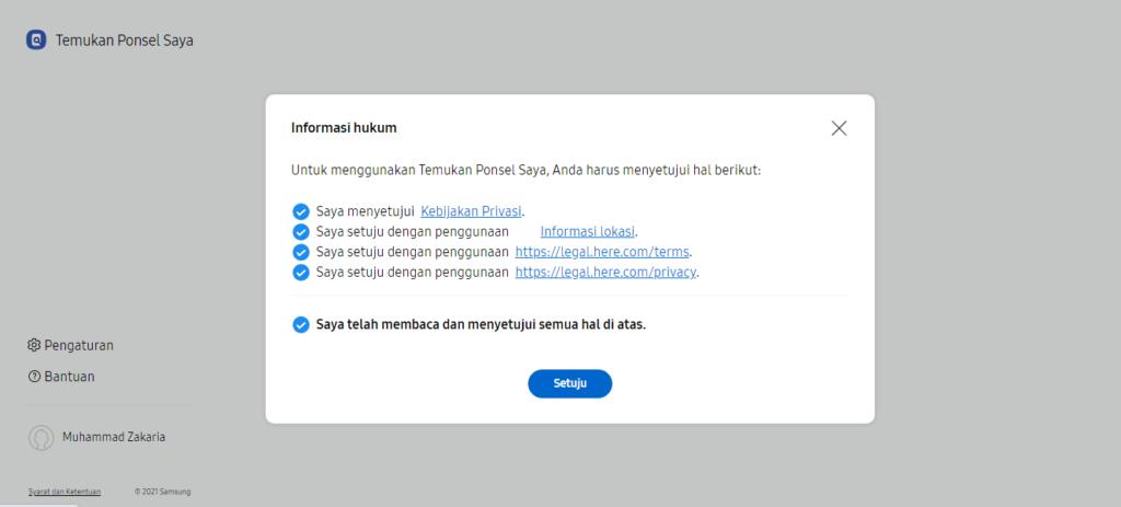 Bukti Akun Samsung dari Website Resmi Samsung