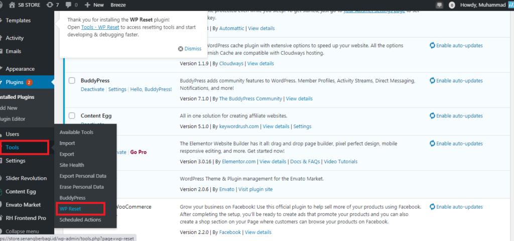 Cara Mudah Reset Template WordPress anda