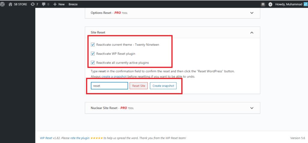 cara mereset wordpress dengan plugin wp reset