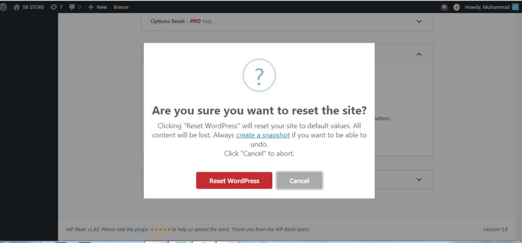 cara reset wordpress dengan menggunakan plugin wp reset