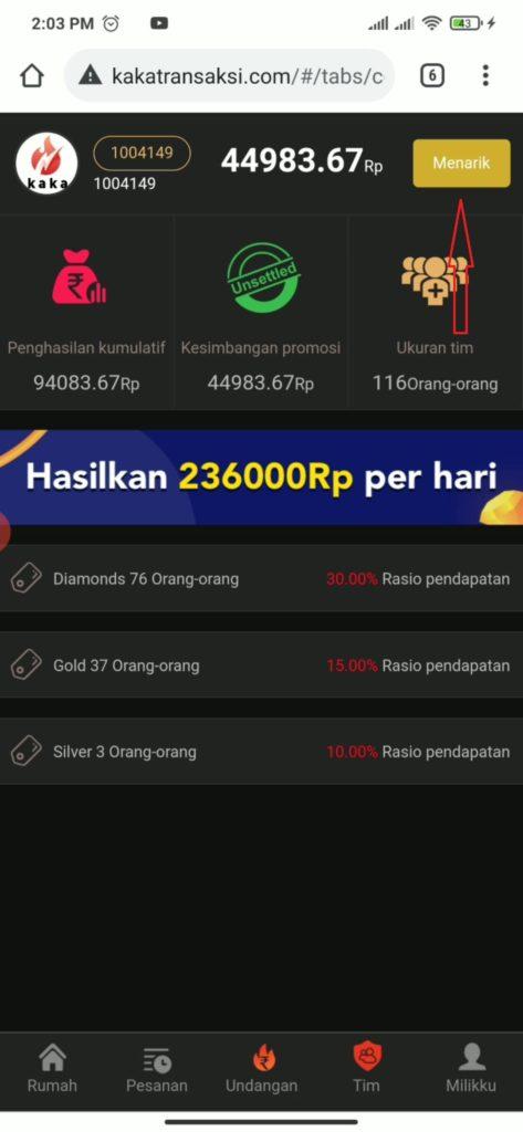 Cara Mencarikan Uang dari Situs Kaka Transaksi