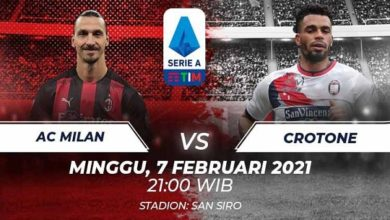 Link Streaming Serie A Italia AC Milan Vs Crontone