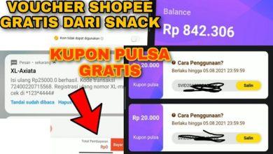Cara Mendapatkan Voucher Shopee Gratis dari Snack Video