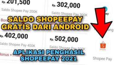 saldo Shopeepay gratis dari android