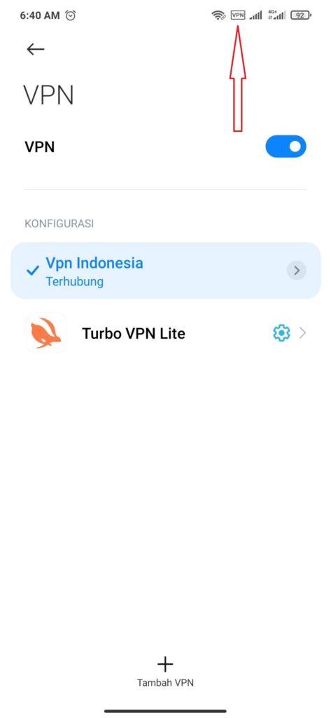 cara menghubungkan VPN smartphone android