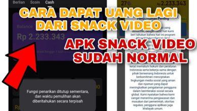 Apakah Snack Video Sudah Normal bisa dapat uang lagi ?