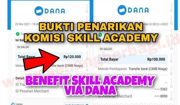 Bukti Pembayaran Komisi dari Skill Academy