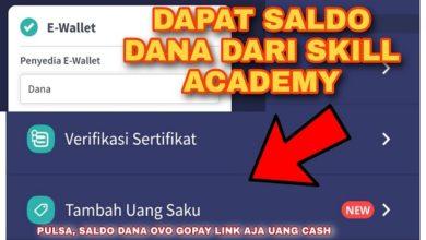 Cara Mendapatkan Saldo Dana dari Skill Academy