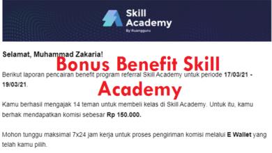 Cara Mengecek Bonus Pencairan Benefit Skill Academy