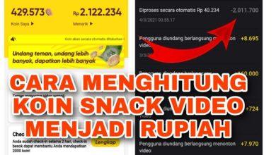 Cara Mudah Menghitung Koin Snack Video Ke Rupiah