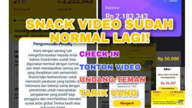 Kabar Gembira Aplikasi Snack Video Sudah Normal Lagi