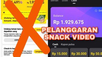 Pelanggaran yang Sering dilakukan oleh Pengguna Snack Video