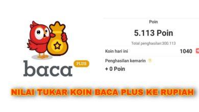 1000 Koin Aplikasi Baca Plus Berapa Rupiah