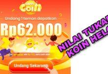 1000 Koin Aplikasi Helo Berapa Rupiah