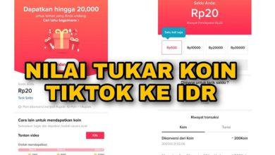 1000 Koin Aplikasi TikTok Berapa Rupiah