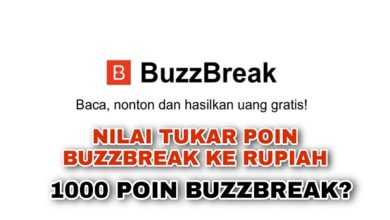 1000 Poin Aplikasi Buzzbreak berapa rupiah