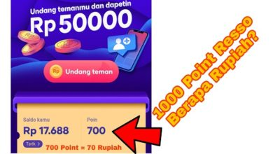 1000 Poin Aplikasi Resso Berapa Rupiah ?