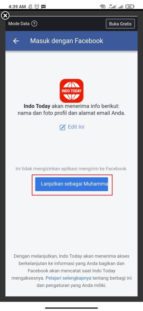 cara daftar dari aplikasi indo tuday