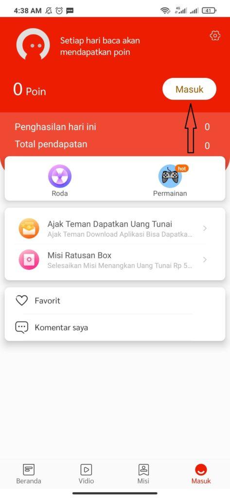 cara masuk dan daftar dari aplikasi Indo Today