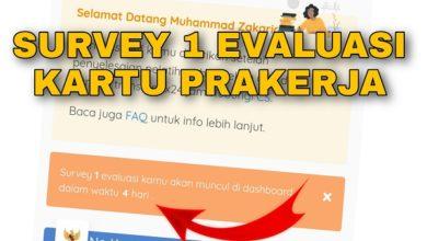 Apa itu Survey 1 Evaluasi di dashboard Kartu Prakerja