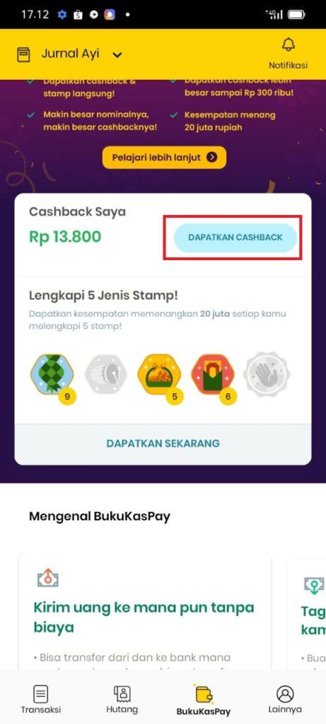 Cara Tarik Cashback dari Aplikasi Bukukas Terbaru