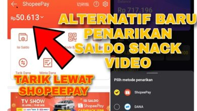 Alternatif baru Tarik Saldo Snack Video lewat Shopeepay