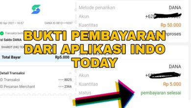 Bukti Pembayaran dari Aplikasi Indo Today
