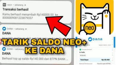 Bukti Penarikan Uang di Aplikasi Bank Neo Commerce