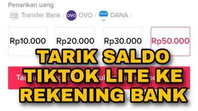 Cara Menarik Saldo TikTok Lite ke Rekening Bank
