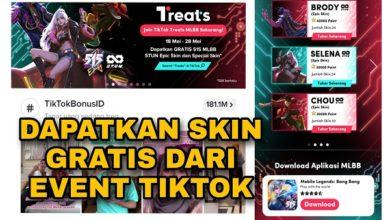 Cara Mendapatkan Skin Mobile Legends Gratis dari TikTok