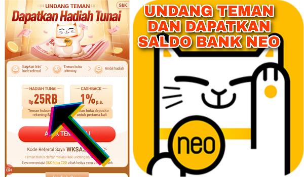 Cara Mengundang Teman di Aplikasi Bank Neo