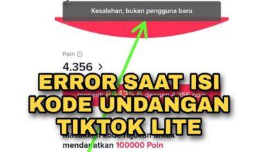 Kenapa Terjadi Kesalahan bukan Pengguna baru di TikTok Lite