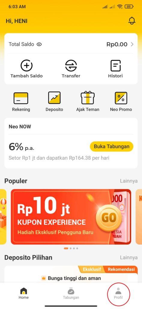 Cara Menggunakan Aplikasi Bank Neo+ Terbaru