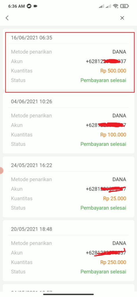 Rincian Penarikan Saldo Dana dari Aplikasi Indo Today
