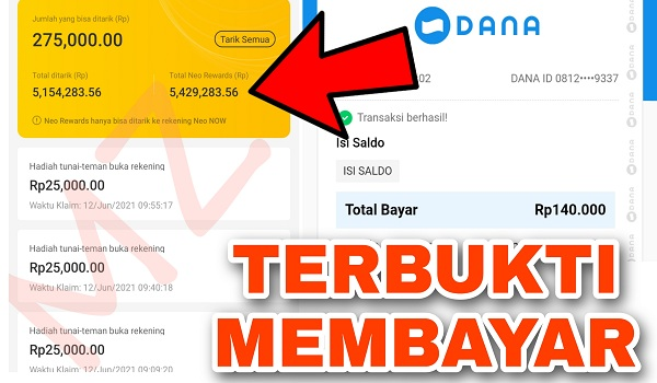 Apakah Aplikasi Bank Neo Commerce Membayar