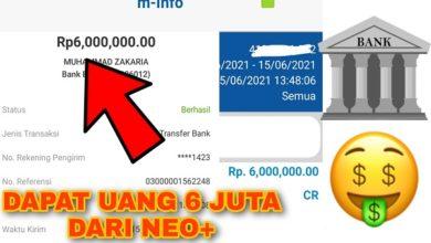 Cara Mendapatkan Uang 6 Juta dari Aplikasi Bank Neo