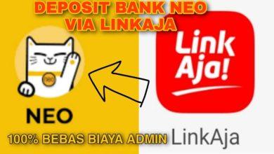 Cara Tambah Saldo Bank Neo Commerce Lewat LinkAJa