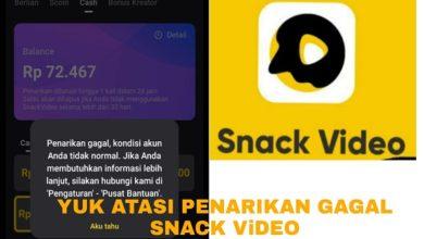 Cara Mengatasi Penarikan Gagal Kondisi Akun Tidak Normal di Snack Video