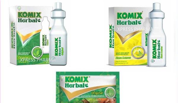 Komix Herbal Sachet dan Tube