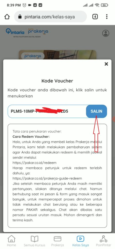 Cara Menggunakan Kode Voucher Pakar
