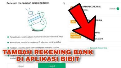 Cara Menambahkan Rekening Bank di Aplikasi Bibit