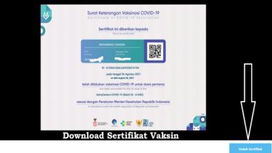Download Sertifikat Vaksin